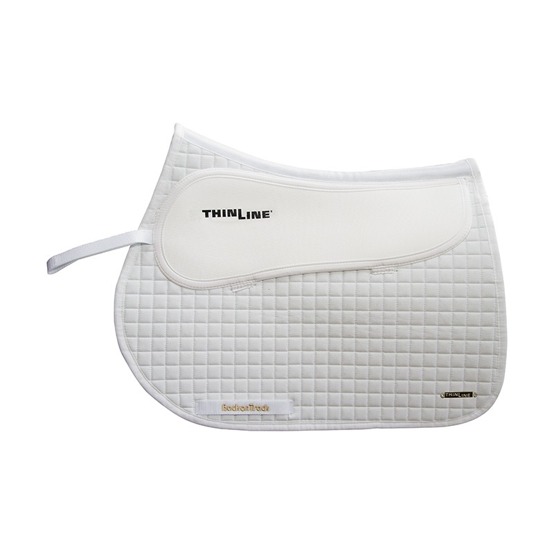 White Contender Back on Track Saddle Pad Jumping White
